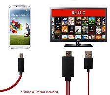 Micro MHL 2 HDMI HDTV Adapter Cable 4 HTC Vivid Veiocity Sensation Jetstream pho