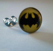 Batman Logo Stud Earring Superhero Single- Surgical Steel Free P&P