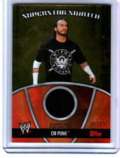 WWE CM Punk 2010 Topps GOLD Superstar Swatch Relic Card SN 35 of 99