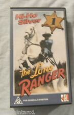 #AA.  FIVE TV  VHS VIDEOS  - THE LONE RANGER, 10 EPISODES