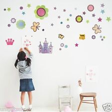 Fairy Tales Castle Wall Decal Room Stickers Bedroom Girl Kids Nursery Home Decor