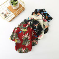Hawaiian Small Dog Shirt Summer Pet Cat Puppy Clothes Bulldog Chihuahua Apparel