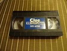 1985 Clue VCR Mystery Game 60 Min VHS Tape Replacement Game Part