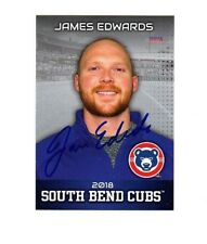 James Edwards signed autographed 2018 South Bend Cubs team set card