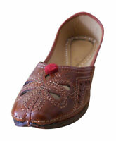 Women Shoes Handmade Jutties Leather Indian Ballerinas Brown UK 3 EU 35.5
