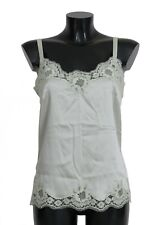 NEW $880 DOLCE & GABBANA Green Silk Lace Dress Lingerie Chemisole s. IT3/ US M