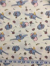 Disney Dumbo Classic Circus Fun Cream Cotton Quilting Fabric 1/2 YARD