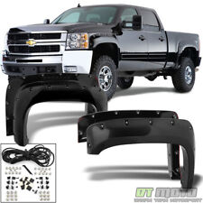 2007-2014 Chevy Silverado 1500/2500/3500 HD Bolt On Rivet Pocket Fender Flares