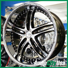 20X8.5  XIX X15 WHEEL 5-114 Black Machine Ch lip fit CADILLAC CTS ATS