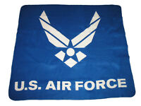 "U.S. Air Force Wings Blue 50""x60"" Polar Fleece Blanket Throw Soft (New)"
