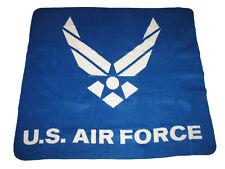 "U.S. Air Force Wings Blue 50""x60"" Polar Fleece Blanket Throw Soft (New)"