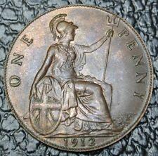 1912 GREAT BRITAIN - ONE PENNY - George V - Nice - Titanic era - LUSTRE