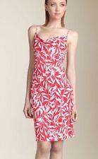 robe soie Diane von Furstenberg rouge et blanc cassé taille 6 Annette t 38 FR