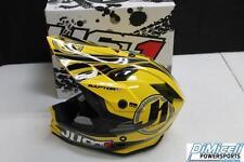 JUST 1 NEW SIZE MEDIUM M MOTORCYCLE FULL FACE HELMET MX ATV YELLOW RAPTOR