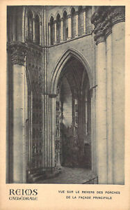 Reims Cathedral War Damage postcard RP Antony Thouret  Un-Posted 1918 A06