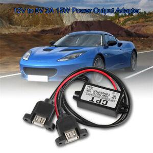 Waterproof 12V To 5V DC Step Down USB LED Car Power Module Converter Adapter
