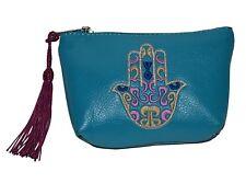 Leather Handbag Pouch Purse Moroccan Women Shopping Bag Make up Clutch Wallet