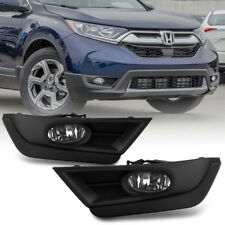 Black Bezel 2017-2018 Honda CRV Bumper Fog Lights Driving Lamps+Bulbs Left+Right