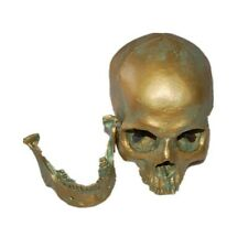 Realistic 1:1 Human Skull Model Anatomical Medical Skeleton Antique Bronze resin