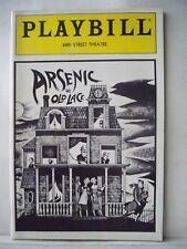 ARSENIC AND OLD LACE Playbill JEAN STAPLETON / POLLY HOLLIDAY / ABE VIGODA 1986