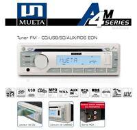 Autoradio Marine Etanche Blanc Mueta A4M CD/USB/SD/AUX/RDS EON
