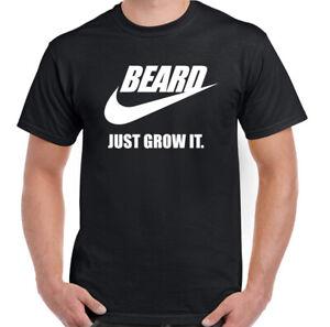 Beard T-Shirt Just Grow It Mens Funny Novelty TEE TOP
