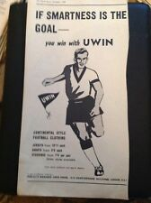 L1-6 Advert 1959 You Win With Uwin Football Clothing