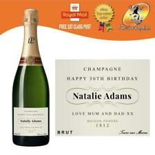 PERSONALISED CHAMPAGNE BOTTLE LABEL BIRTHDAY ANY OCCASION GIFT