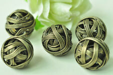 10pcs Antique Bronze Wire Yarn Ball Charm Pendant Necklace Accessory Craft Punk