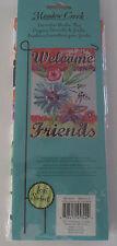 Meadow Creek DEOCRATIVE GARDEN FLAG Welcome Friends Flowers NEW Lori Siebert