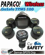 Papago Tire Pressure Monitoring System TPMS 100 4Sensors Germany Chip Steelmate