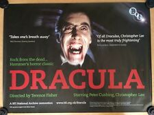Rare Version- Dracula - BFI ORIGINAL UK QUAD CINEMA POSTER - Hammer Horror