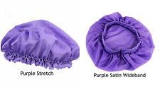 Silk Night Sleep Cap Hair Bonnet Hat Head Cover Satin Wide Band Adjust Elastic