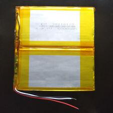 3.7V 6000mAh Li po Rechargeable Battery For Laptop Power bank Tablet PC 38116110