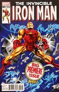 Invincible Iron Man #1 Bruce Timm 1:25 Variant Marvel 2015 Gene Colan Homage