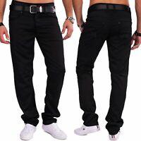 Herren glänzende Stoffhose ELIJAH Coated Denim Slim Fit Hose Jeans Style