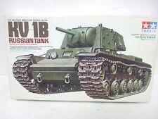 KV-1B Russian Tank Model 1940 w/ Applique Armor - Tamiya 1/35 Model Kit #142 MIB