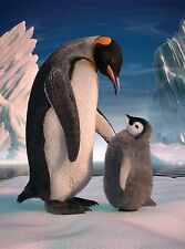 3D Lenticulaire Image Pingouin Mère Avec bébé Poussin 39x29 cm environ Neuf