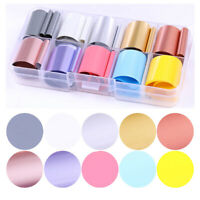 10 Rolls/Box Holographicssssss Nail Foil Candy  Sky Transfer Stickers Decals DIY
