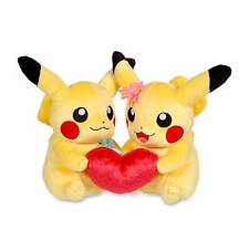 Official Pokemon Center Perfect Pair Pikachu Love Heart Plush Rare Collectible
