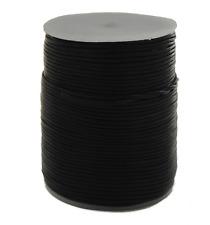 100m Lederband (0,30 €/1m) schwarz 1 mm stark auf Rolle aus INDIEN
