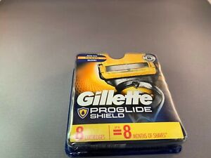 GILLETTE PROGLIDE SHIELD REFILL RAZOR BLADES-- 8 CARTRIDGES-- BRAND NEW