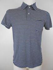 Ralph Lauren Poloshirt Polohemd Shirt Gr.S Blau/Weiß Gestreift Brusttasche TOP