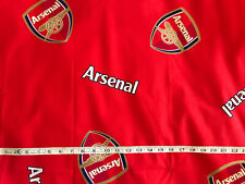 Arsenal Football Club Official Red Fabric FQ 56x46cm Badge Detail - New