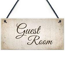 Guest Room Handmade Hanging Plaque Door Shabby Chic Sign Bedroom Home Decor