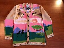 STORYBOOK KNITS NWT Sweater, Size Small, Green/Pink/Beige