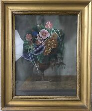 BLUMEN BOUQUET - STILLLEBEN VON 1882 - OLD ANTIQUE STIL LIFE - CARLSEN SIGNED