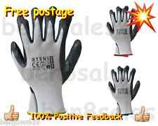 2 10 Pairs Work Gloves Nitrile Coated FLT Driver Construction Gardening Builders