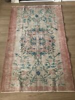 """Turkish Oushak Wool Area Rug, Vintage Hand Knotted, 6'6""""x 4'4"""", FREE SHIPPING!"""