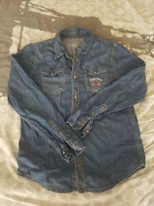 chemise en jeans pepe jeans 14 ans